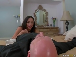 Ariella Ferrera is pissed after she unwanted guest Johnny Sins