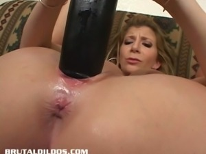 Busty milf sara jay fucks herself with a huge toy