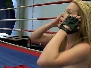 Nude fight involving Cindy Hope and Sophie Moone gets nasty as they strip...