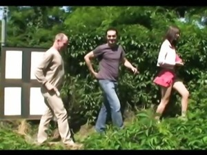 Nice tits babe gets hard fuck