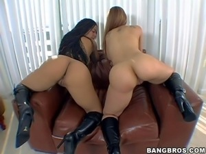 Chayanne Jacobs and Scarlett are two round assed sexy babes in black boots....