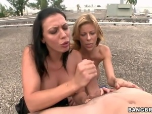Rachel Starr and another hot pornstar with perfect big tits