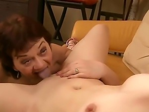 Sexy lesbian babes have a good time as they teach each other how to suck cunt...
