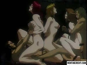 Hentai girls in chains gets fucked