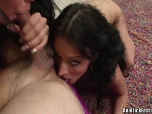 Two sexy brunettes, Bailey Brooks and Tanner Mayes loving every second of ass...