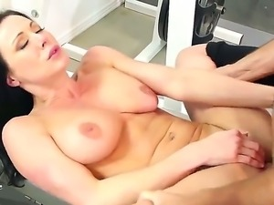Hot brunette gets her pussy sucked by his boyfriend and later gets fucked...