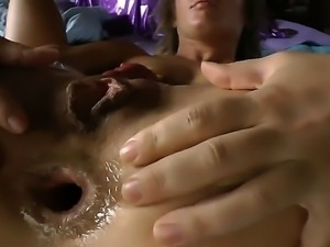 Pretty flexible brunette doll Sheena Shaw with heavy make up gets her...