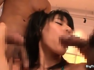 Busty brunette babe gets her cunt fucked part3