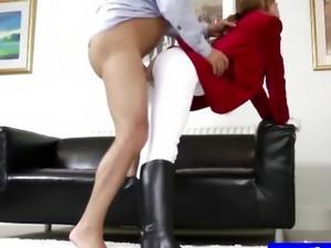 Teen amateur in tights getting slammed