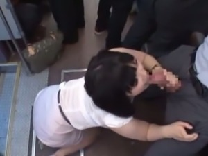 Japanese teen gangbanged on the bus