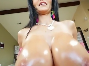 Ava Addams uses her huge boobs and sticks Kevin Moores hard cock between them