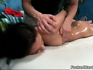 awesome Brunette stretches her gorgeous part1