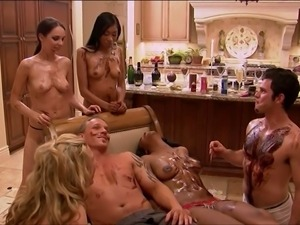 Wild playboy orgy gets started