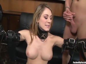 Amber Ashlee on a four on one hardcore fuck enjoying each cock on her pussy...