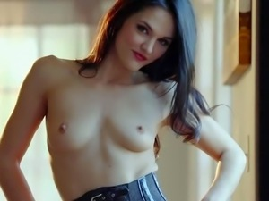 Logan Drae is a beautiful long haired brunette with pretty small natural...