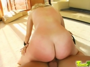 Innocent Bianca is untied to submit to their cocks