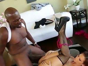 Lexington Steele uses his hard black cock and fucks smoking hot Syren De Mer...