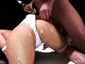 Mischa Brooks is an anal slut who wants to fuck with Mick Blue forever before...