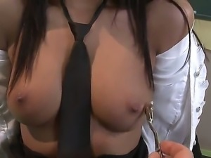 Black haired schoolgirl Cipriana with perfectly shaped firm hooters and...