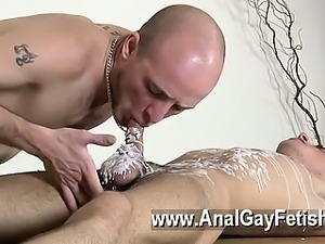 Hot gay scene Dom guy Kieron Knight has a fabulous youthful youngster