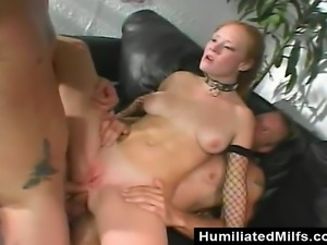 This hot redhead milf is dressed to fuck but she did not know what was coming...