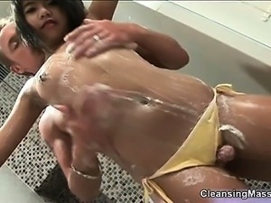 Cute Asian girl loves giving hot soapy part4