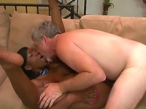 Horny ebony babe Jessica moans as a huge pole penetrates her wet pink pussy...