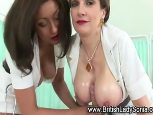 Tit fucking femdom brit fetish nurse hottie gets a cumshot