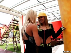 Charming whore Nikky Thorn and Colette are so fucking horny in this lesbian...