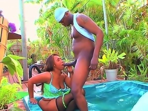 Ebony black whore with a big ass booty gets her big wet pussy fucked doggy...