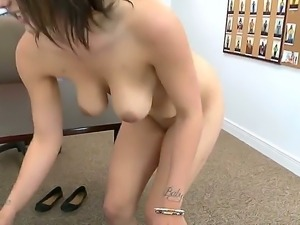 Amazing girlie Sabrina Taylor stays absolutely naked demonstrating nice boobs...