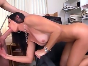 Seductive MILF India Summer munches on a massive boner before receiving it...