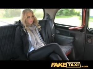 FakeTaxi Hot blonde tourist in first time blowjob free