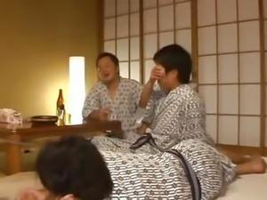 Nana Aoyama attends to wild orgy