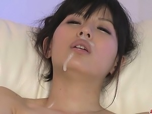 An asian blowjob from Nozomi Koizumi for three guys