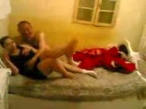 horny mature arab couple fuck hard