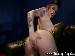 Tattoo emo fetish goth punk slut stripped and pussy shown