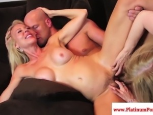 Nina Hartley threeway action with mature Erica Lauren
