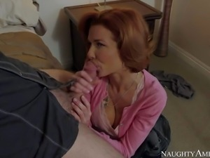 Nasty cock addicted brunette milf Veronica Avluv with big jaw dropping tits...