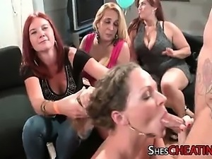 Black Monstercock Sucked On By Group Of Milfs