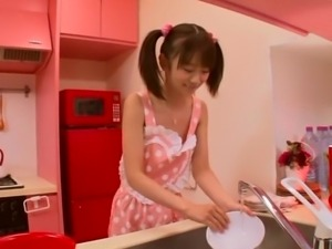 my japanese teen girlfriend cooks breakfast
