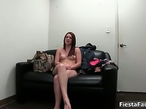 Sexy brunette babe gets horny taking part3