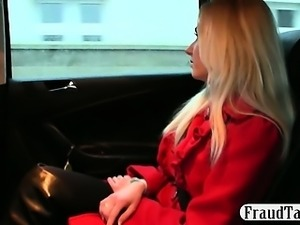 Hot blonde teen amateur sex with her taxi driver to get pregnant