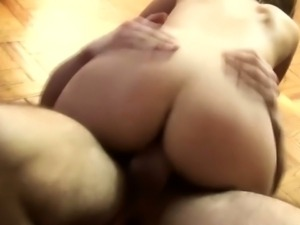 Brazilian amateur rides cock on the couch