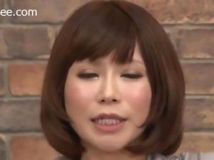Japanese News Anchor Gets Facial Cum