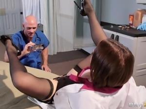 horny doctor filming her slutty nurse