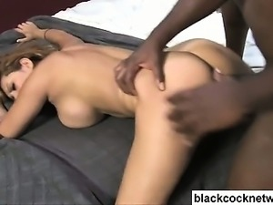 Black monster cock and white slut