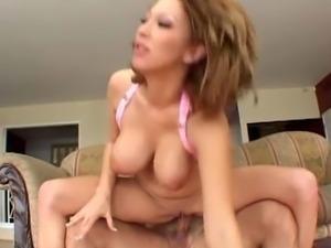 Huge tits slut double creampied by huge dick dudes