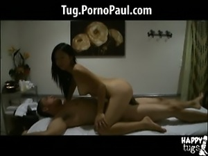 Asian massage girl gives full service