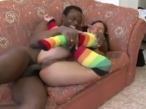 Hot teen sharon gets assfucked by a black cock